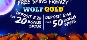 Free Spins Wolf Gold