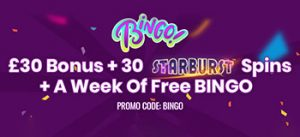 £30 BONUS +30 FREE SPINS + A WEEK OF FREE BINGO! USE PROMO CODE BINGO